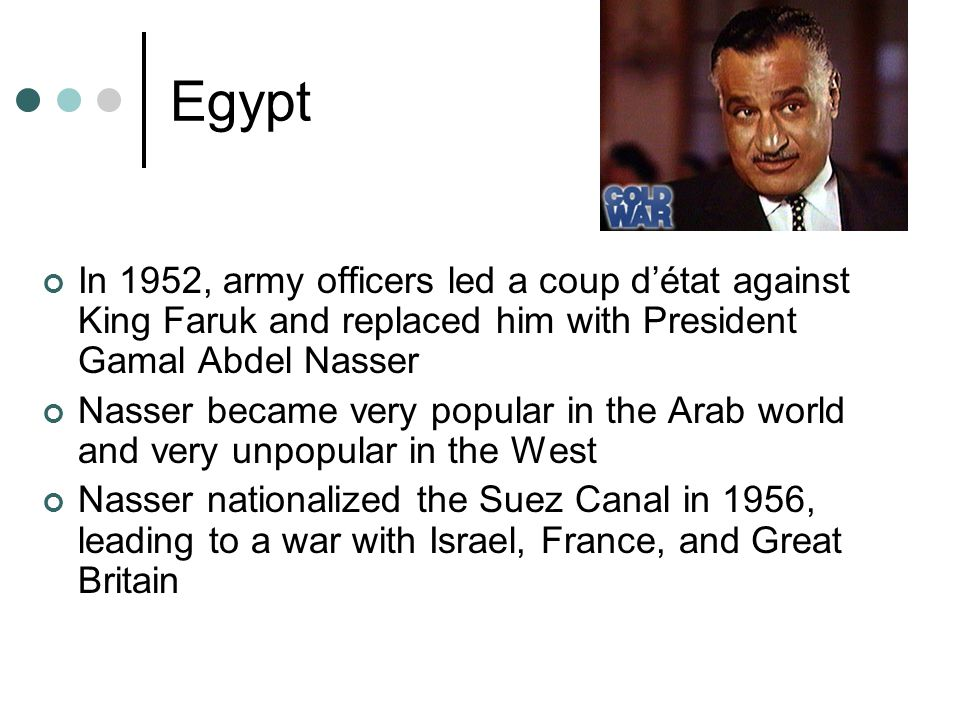 Israel Israel would fight victorious wars in 1956 against Egypt, and 1967 against Egypt, Syria, and Jordan, securing much of the territory around Israel Yom Kippur War (1973) Syria and Egypt launched a surprise attack against Israel Soviet Union supplied the Arabs and the U.S.