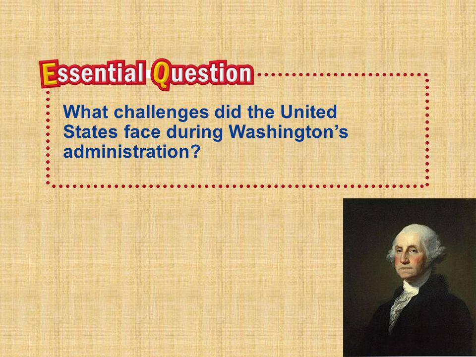What did George Washington consider a grave danger to the new nation.