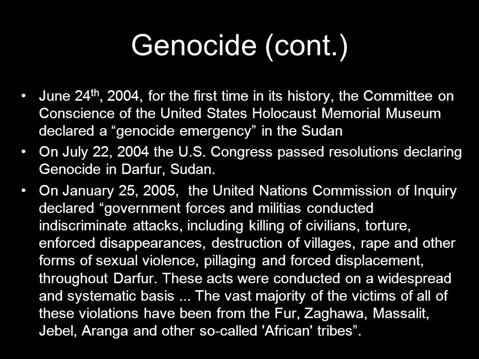 What is Genocide.