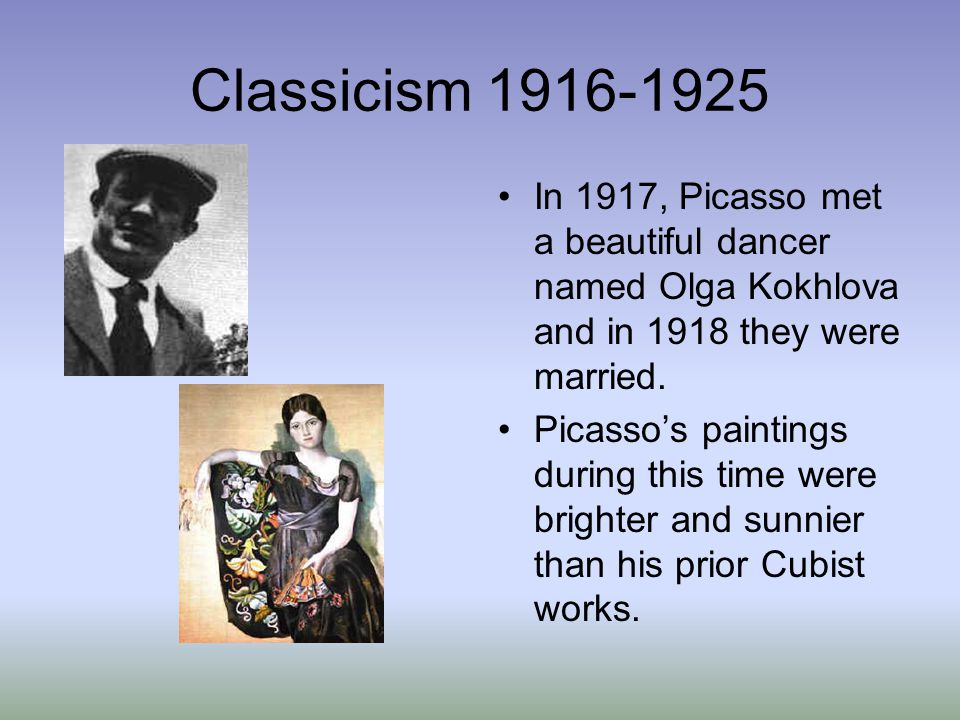 Cubism breaks up an image into shapes and planes, showing multiple sides of the same object at the same time.