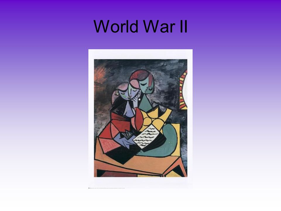 World War II World War II began in 1939. The Germans invaded and conquered France.