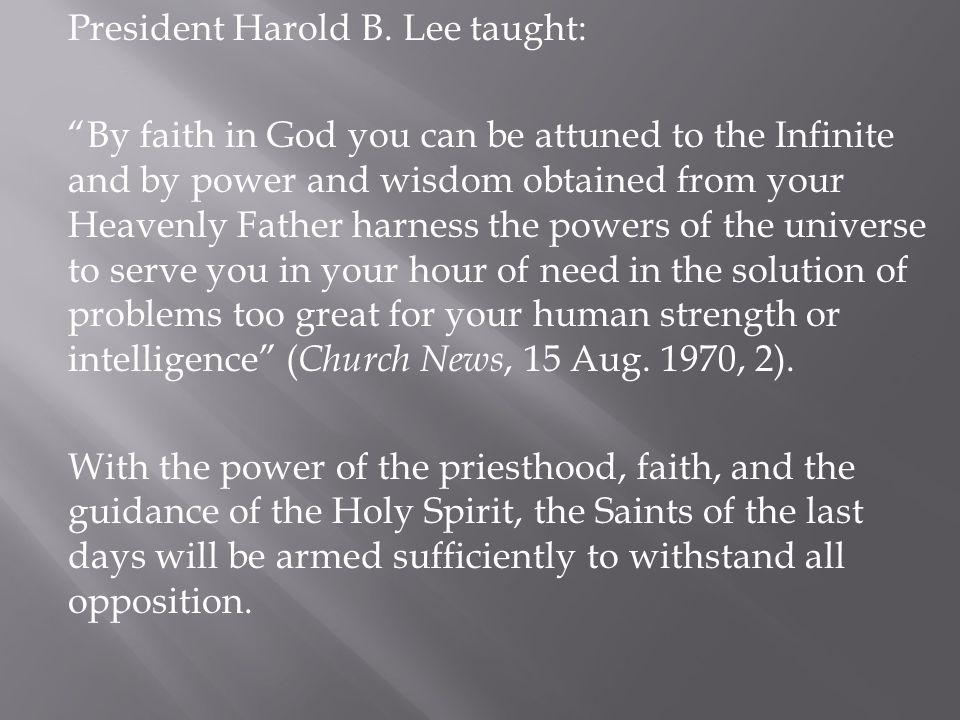 President Harold B.