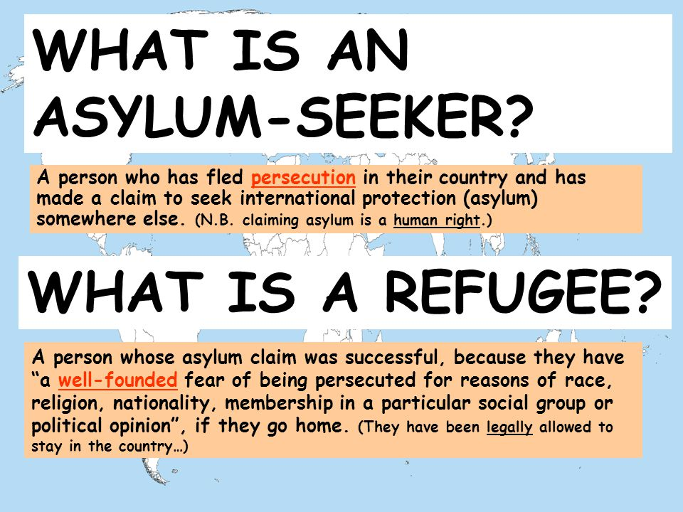 WHAT IS A REFUGEE.