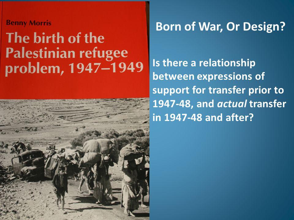 Born of War, Or Design.