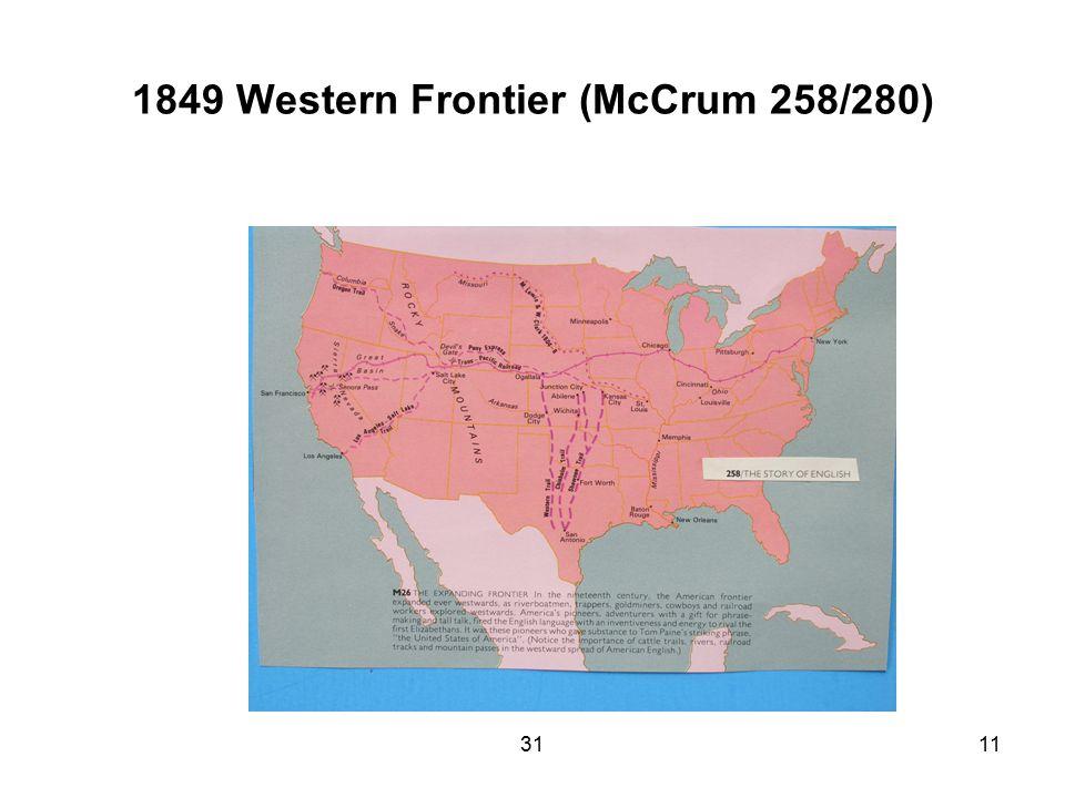 3111 1849 Western Frontier (McCrum 258/280)