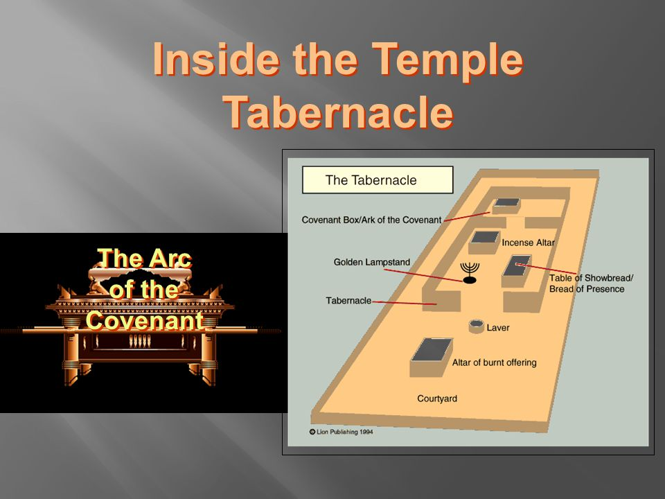 Inside the Temple Tabernacle The Arc of the Covenant