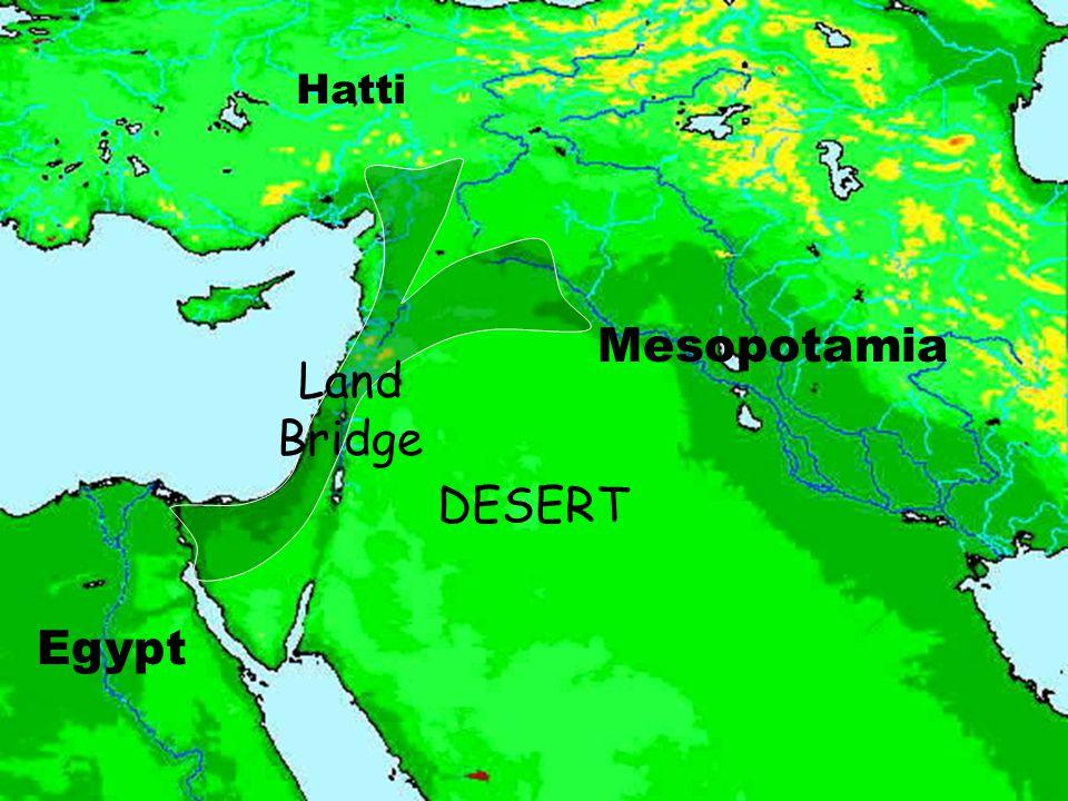 Mesopotamia Egypt Hatti Land Bridge DESERT