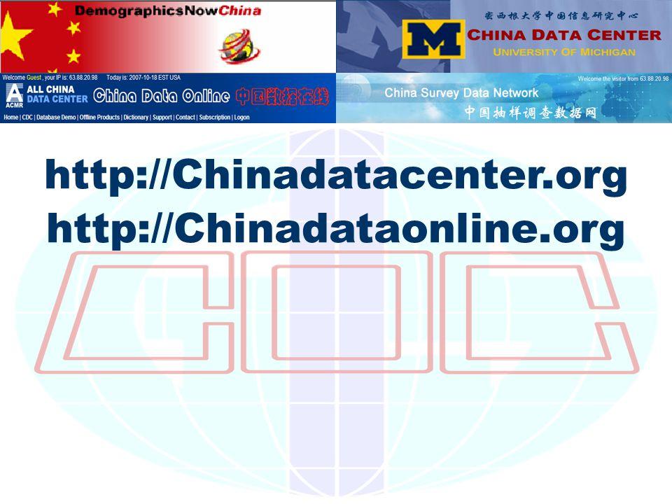 http://Chinadatacenter.org http://Chinadataonline.org