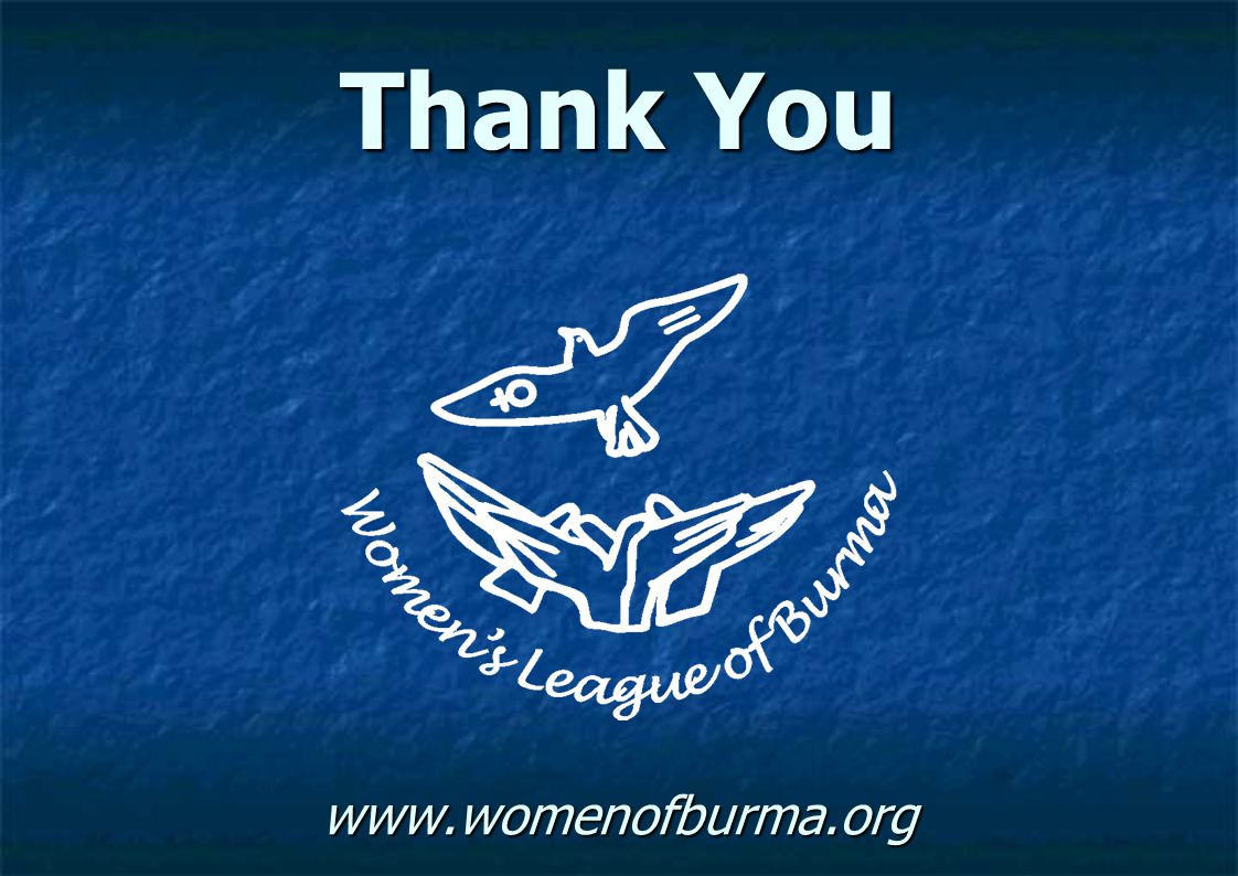 Thank You www.womenofburma.org