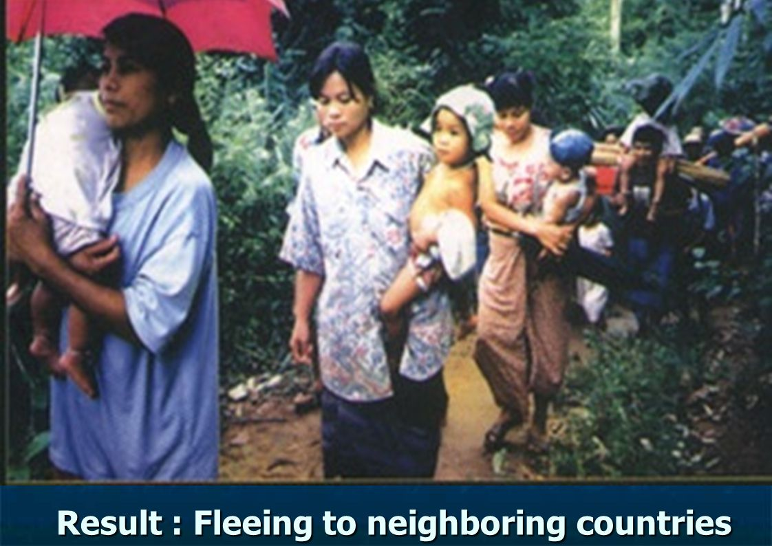Result : Fleeing to neighboring countries Result : Fleeing to neighboring countries