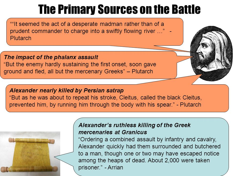 """The Primary Sources on the Battle The impact of the phalanx assault """"But the enemy hardly sustaining the first onset, soon gave ground and fled, all b"""