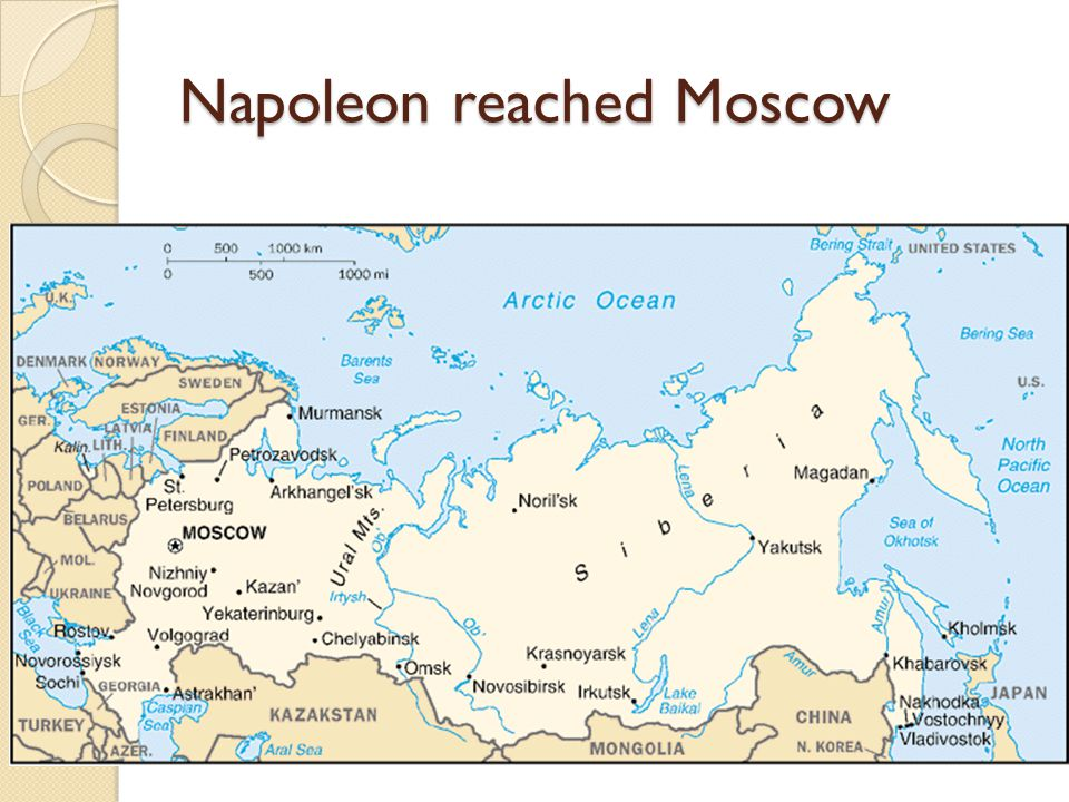 Napoleon reached Moscow