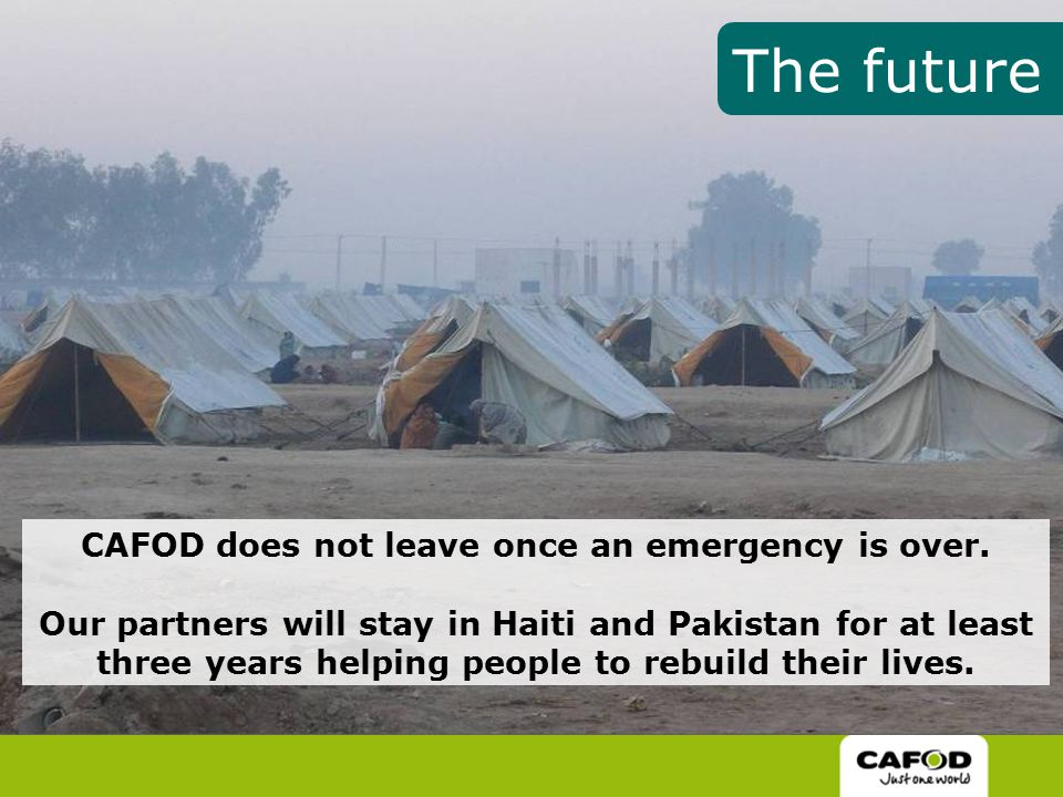 CAFOD does not leave once an emergency is over.