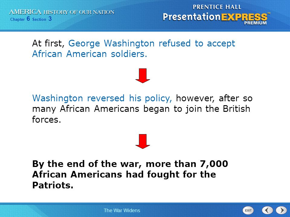 Chapter 6 Section 3 The War Widens Section Review Know It, Show It QuizQuickTake Quiz