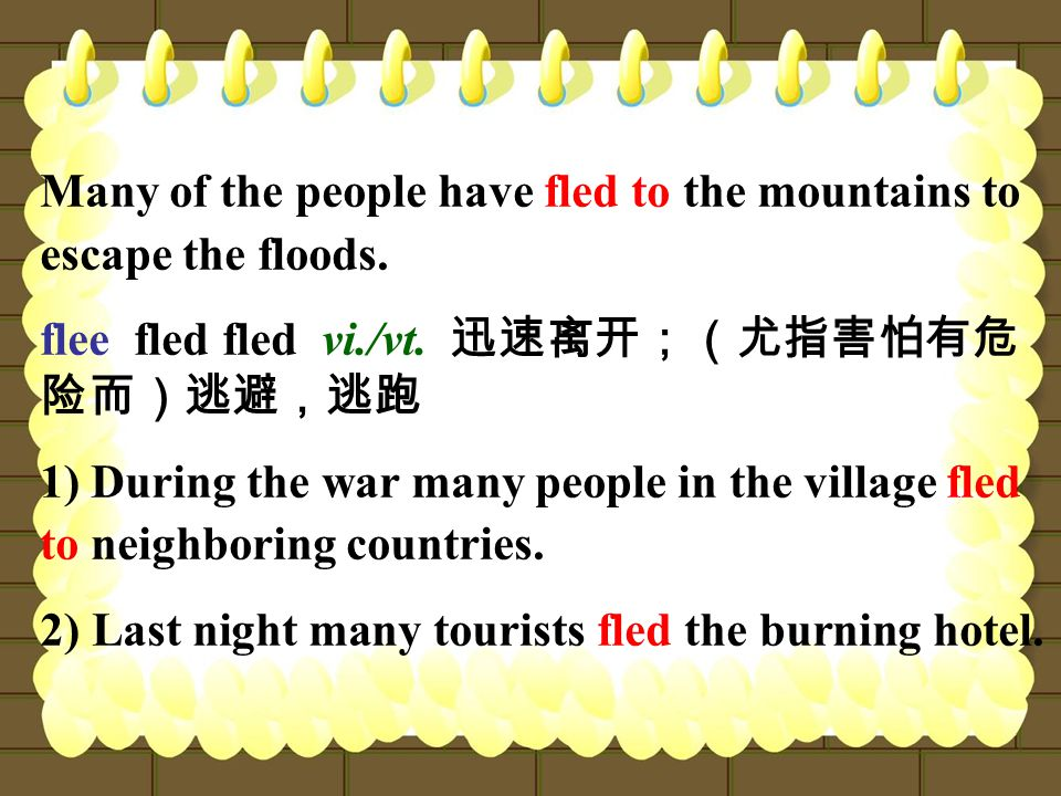 Many of the people have fled to the mountains to escape the floods.