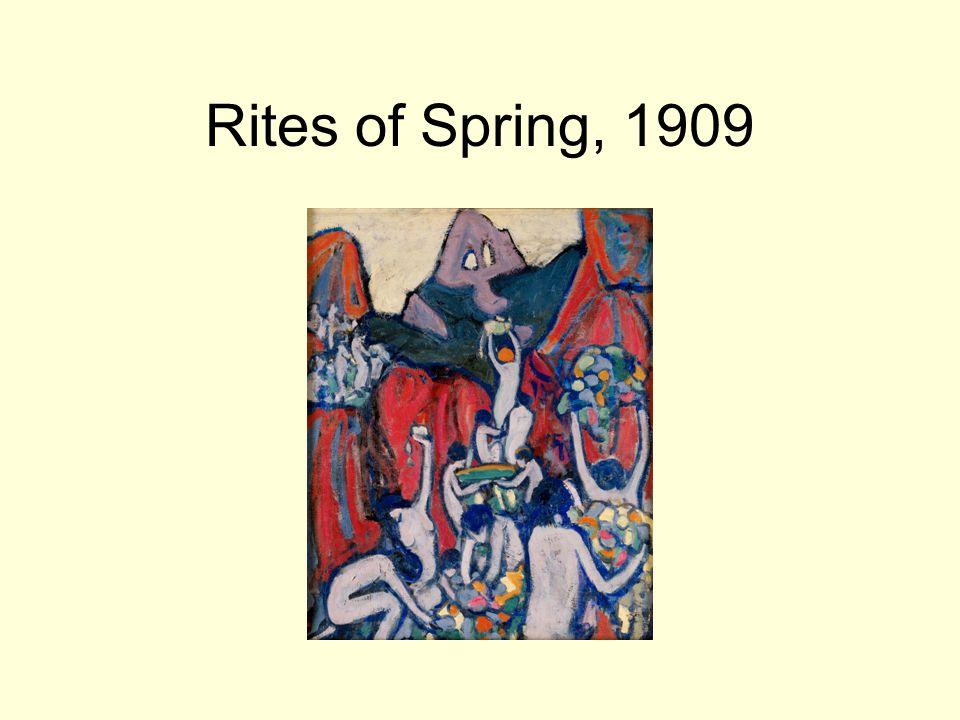 Rites of Spring, 1909