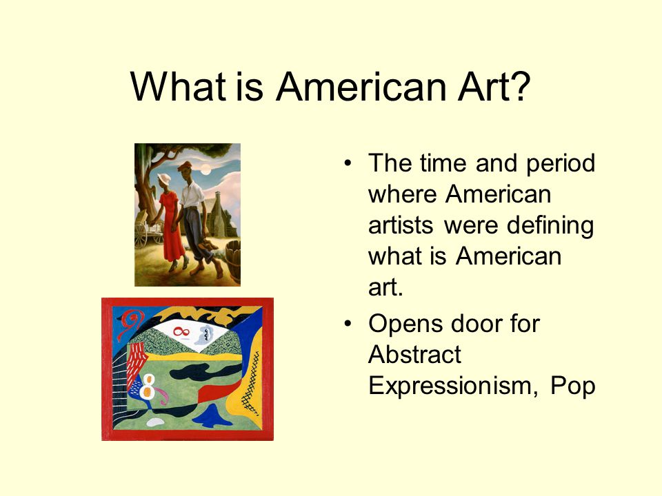 What is American Art.