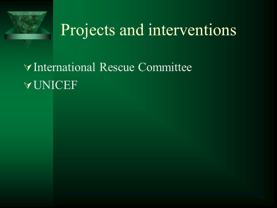 Projects and interventions  International Rescue Committee  UNICEF