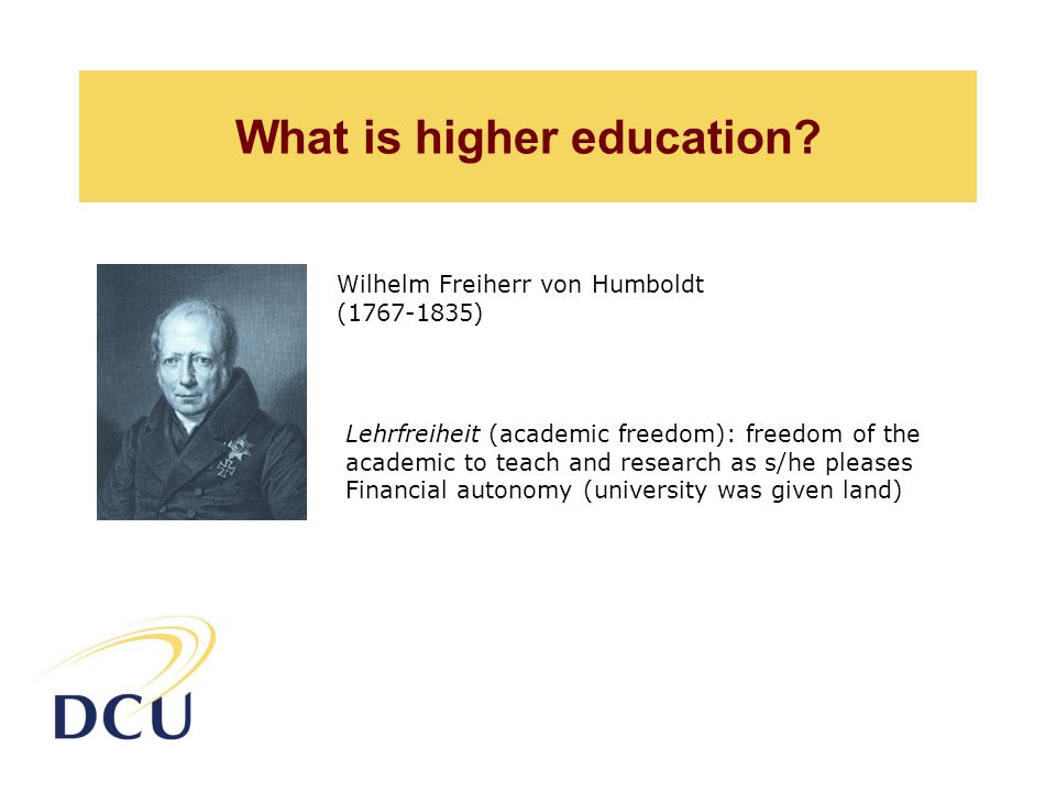 What is higher education.