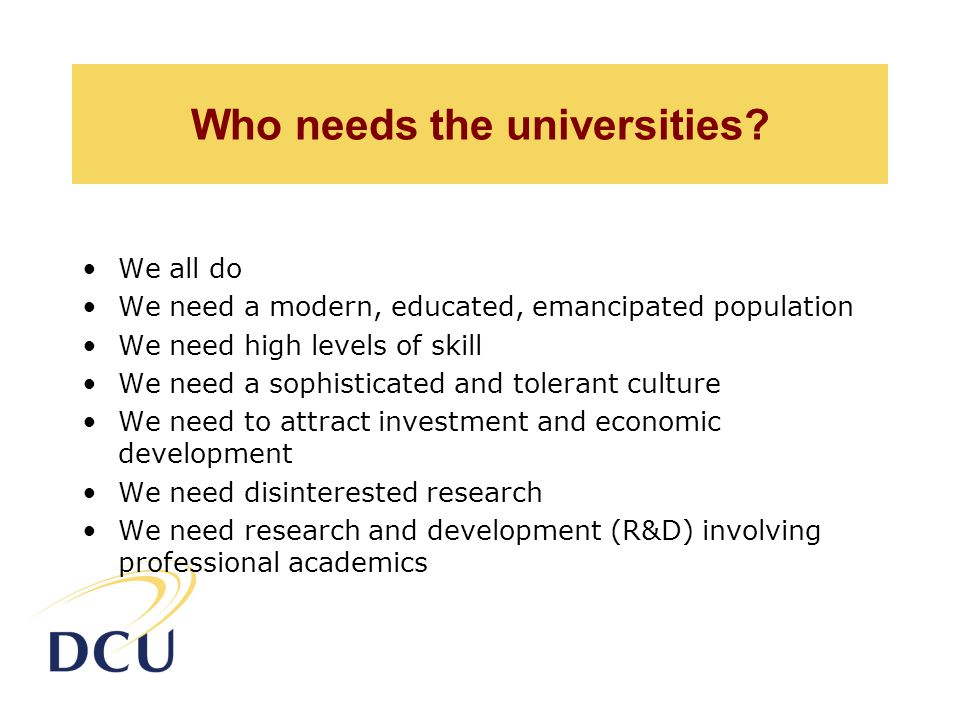 Who needs the universities.