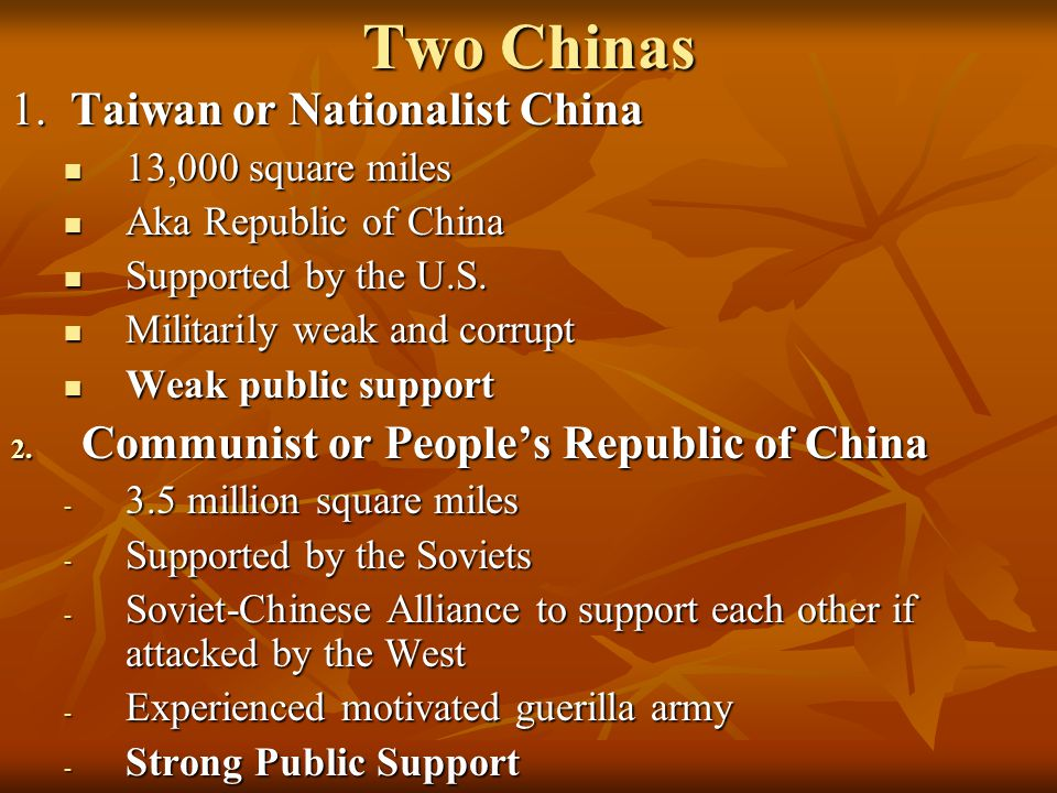 Two Chinas 1.
