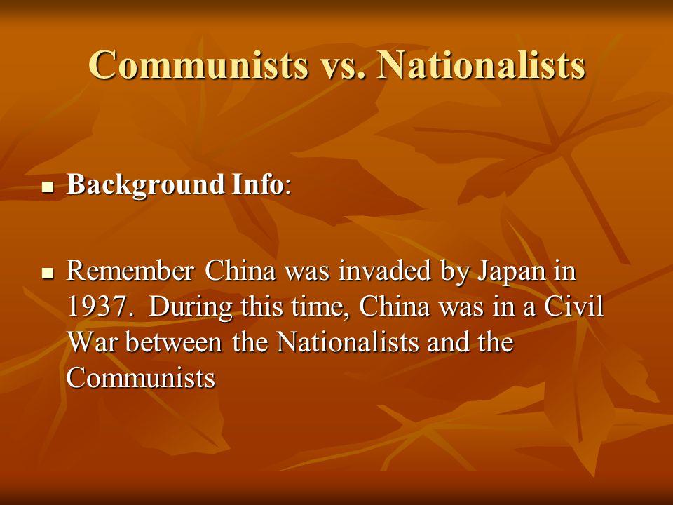 Communists vs.