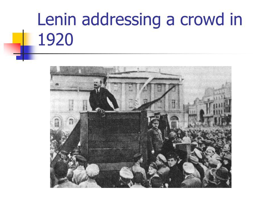 Lenin addressing a crowd in 1920