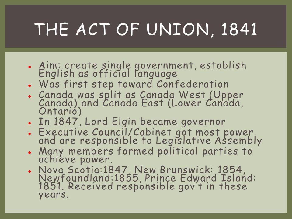 John George Lambton (Lord Durham) sent to Quebec City as governor general.