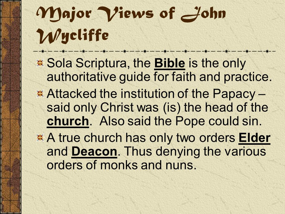 John Wycliffe Declared a heretic at the Council of Constance 1415 was exhumed, burned and his ashes were thrown into the Swift River.
