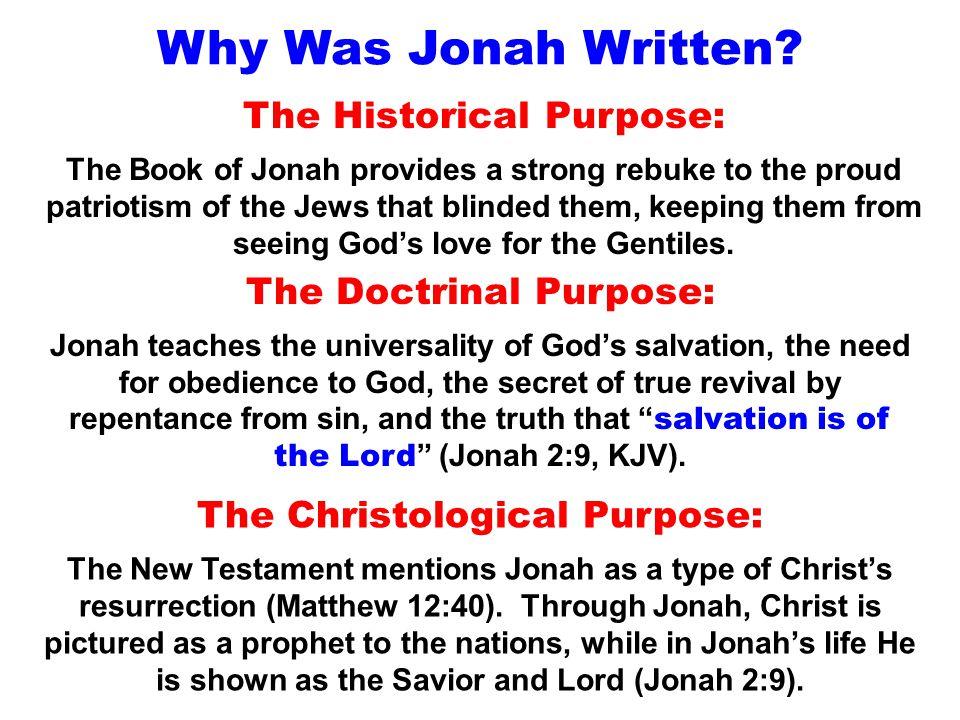Why Was Jonah Written.
