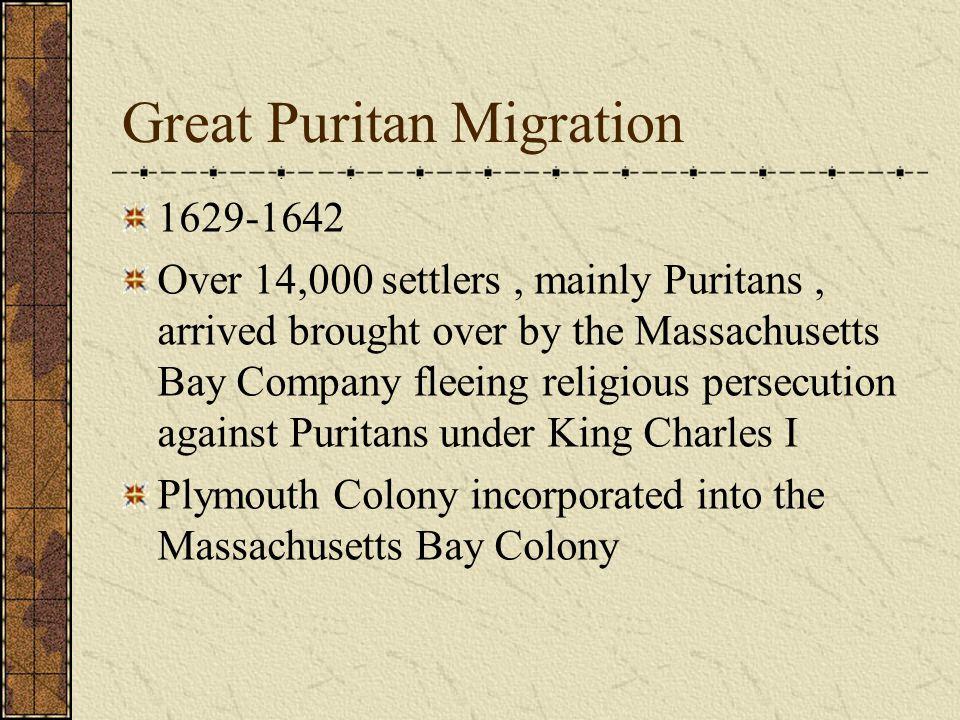 Massachusetts Bay Company Joint Stock company that funded the establishment of the Massachusetts Bay Colony Boston – capital city