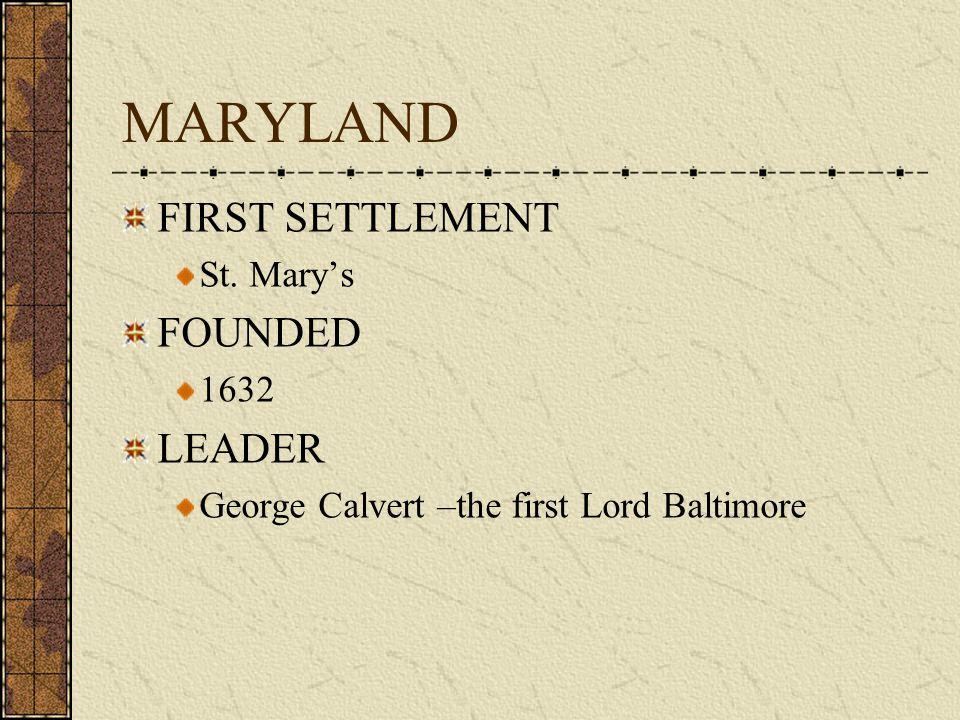 COLONY # 5 MARYLAND 1632