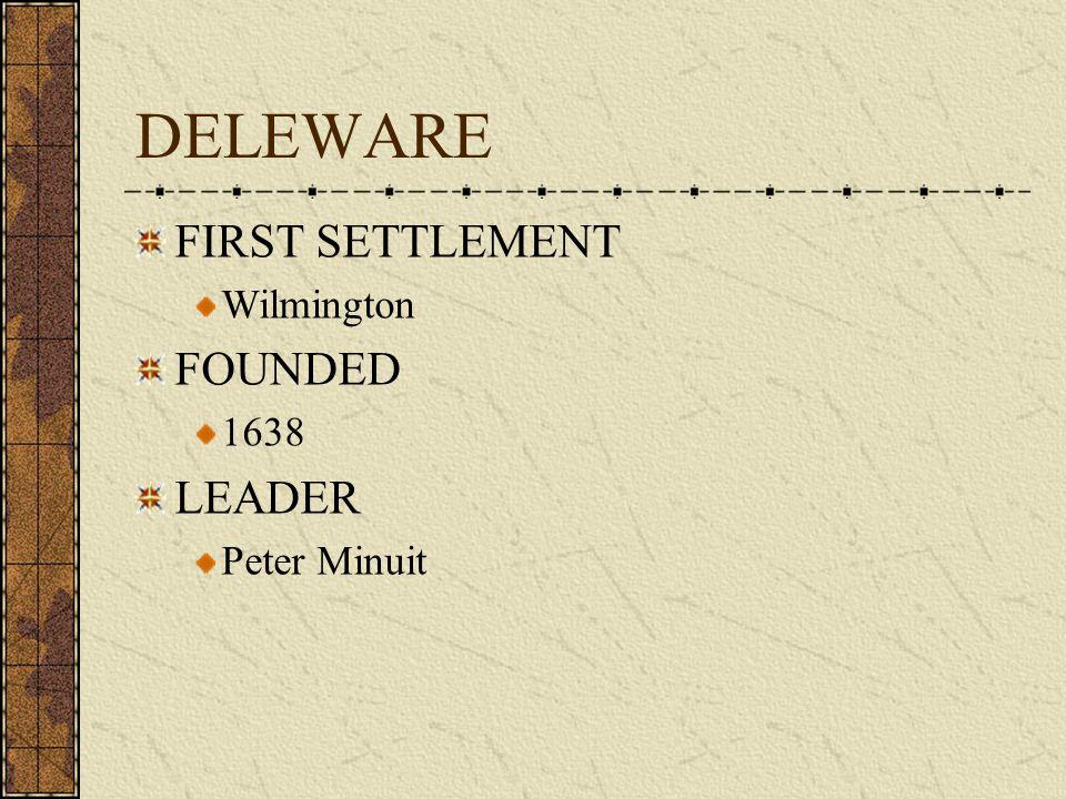 COLONY # 7 DELEWARE 1638