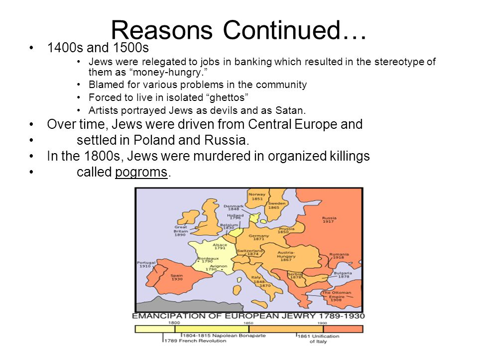 "History of Anti-Semitism Continued The 1 st Crusades ""Baptism or Death"" Nearly 10,000 Jews died because they refused to convert One leader vowed ""to l"