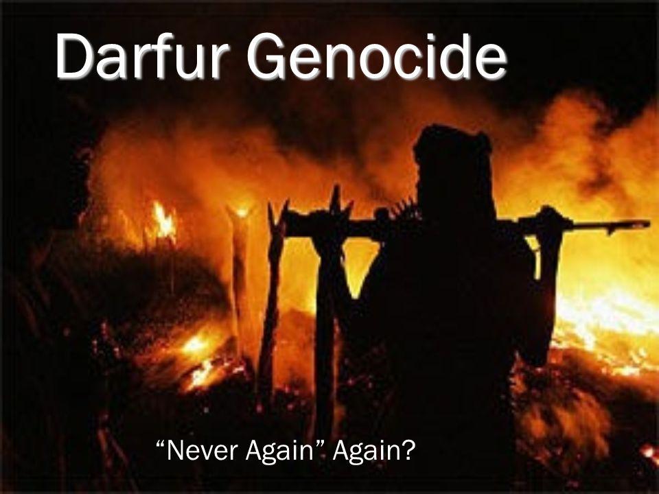 """Darfur Genocide """"Never Again"""" Again?"""