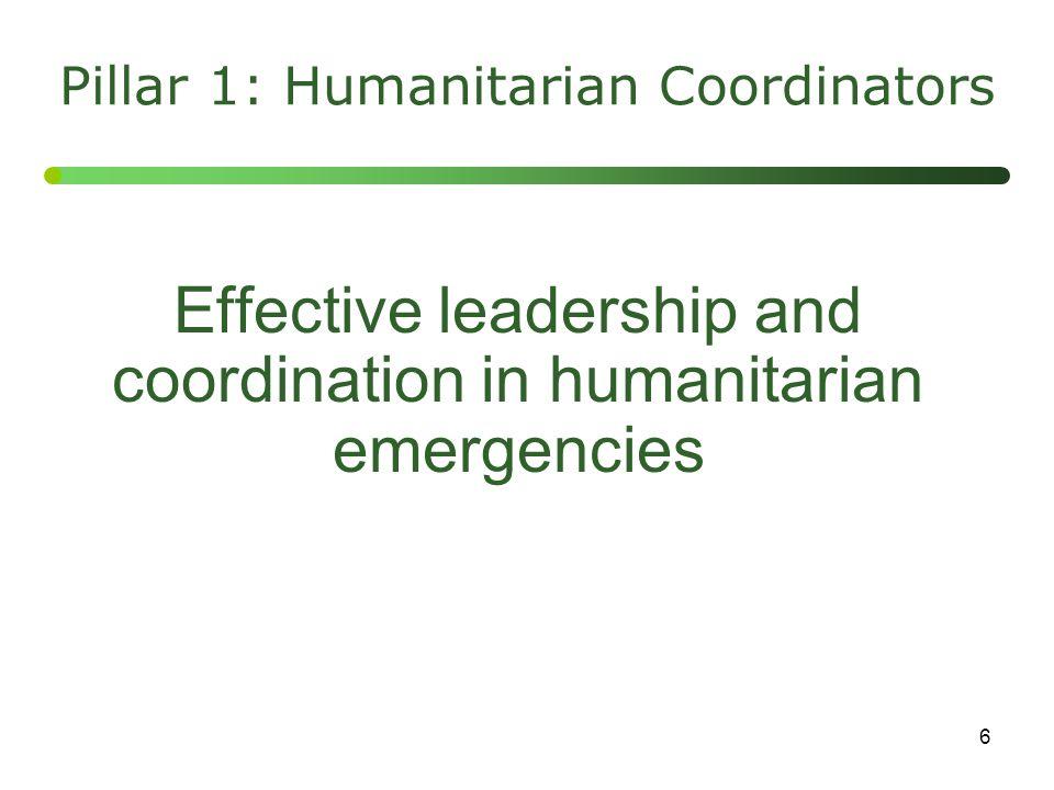 7 Adequate, timely and flexible financing Pillar 2: Humanitarian Financing