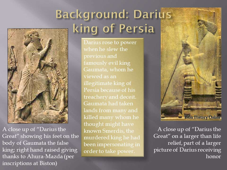  Daniel 6:6-10 ESV  (6) Then these presidents and satraps came by agreement to the king and said to him, O King Darius, live forever.