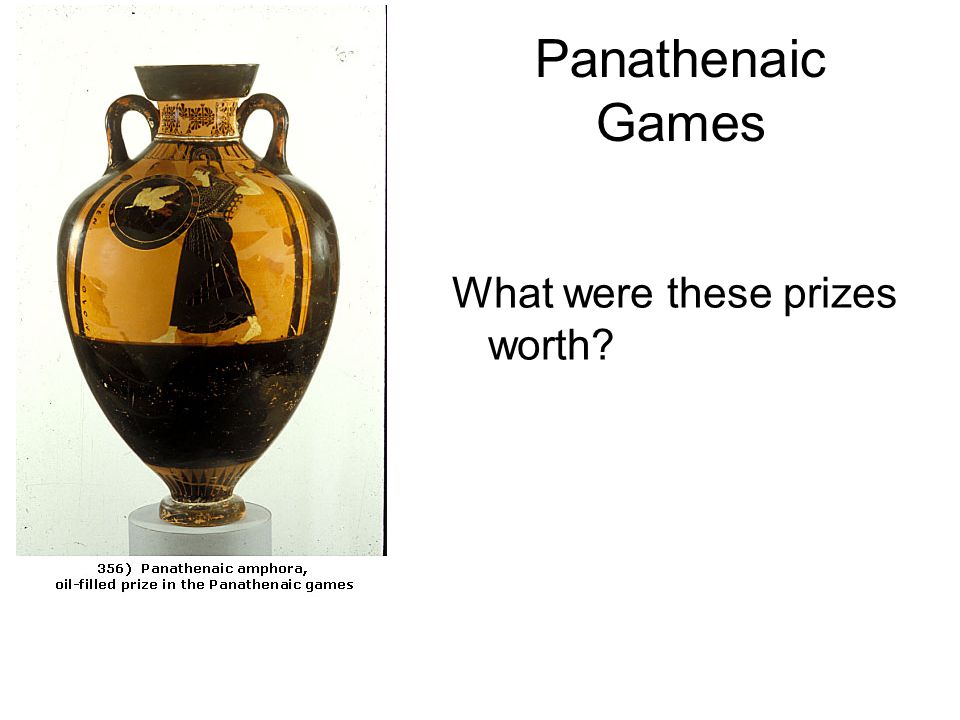 Panathenaic Games What were these prizes worth?