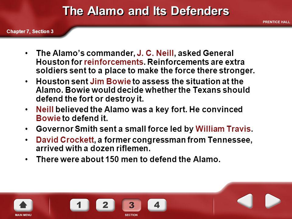 The Alamo and Its Defenders The Alamo's commander, J.