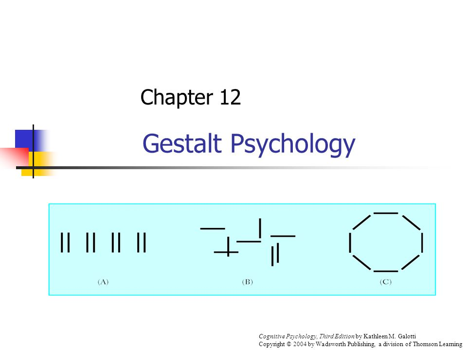 Gestalt Psychology Chapter 12 Cognitive Psychology, Third Edition by Kathleen M.