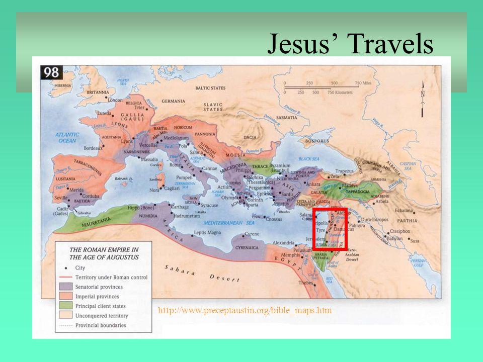 http://www.preceptaustin.org/bible_maps.htm Jesus' Travels