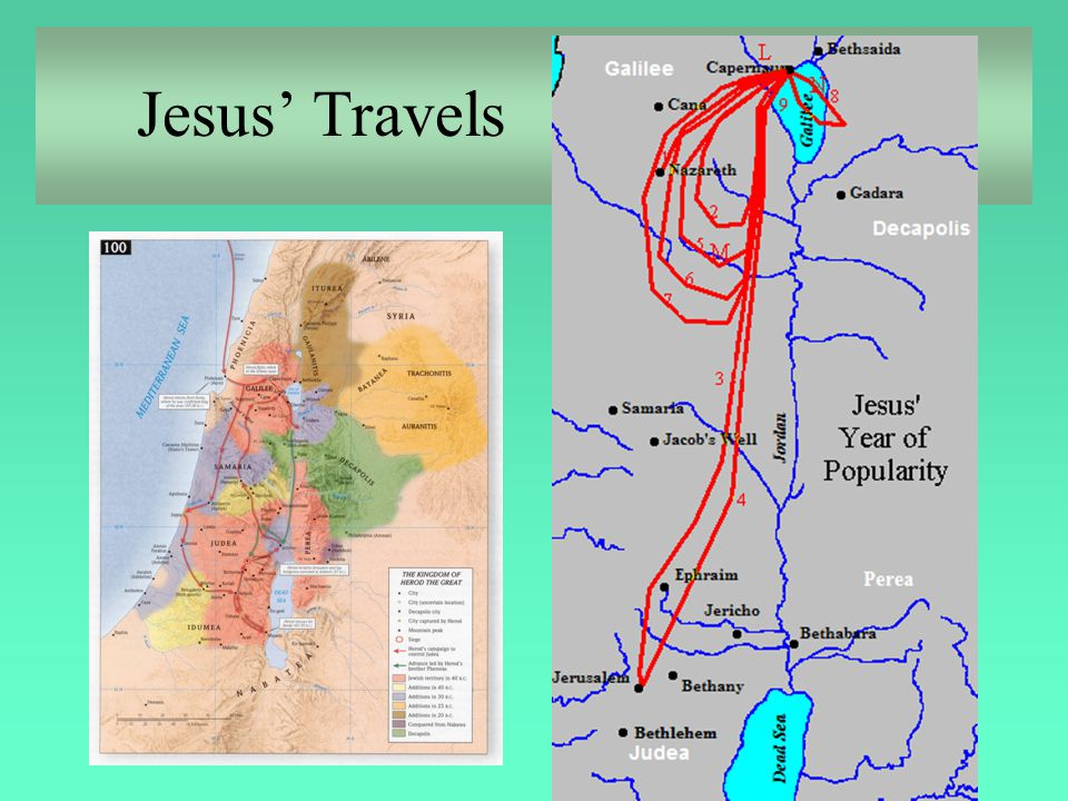 Jesus' Ministry in Galilee Luke 8:1-3 Soon afterwards he went on through cities and villages, proclaiming and bringing the good news of the kingdom of God.