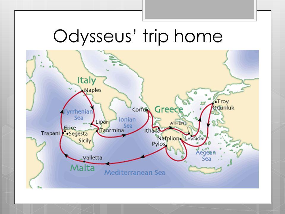 Odysseus' trip home