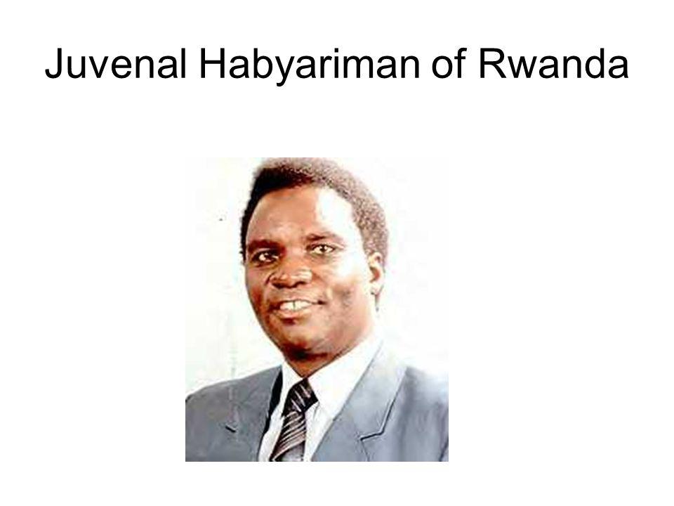Juvenal Habyariman of Rwanda