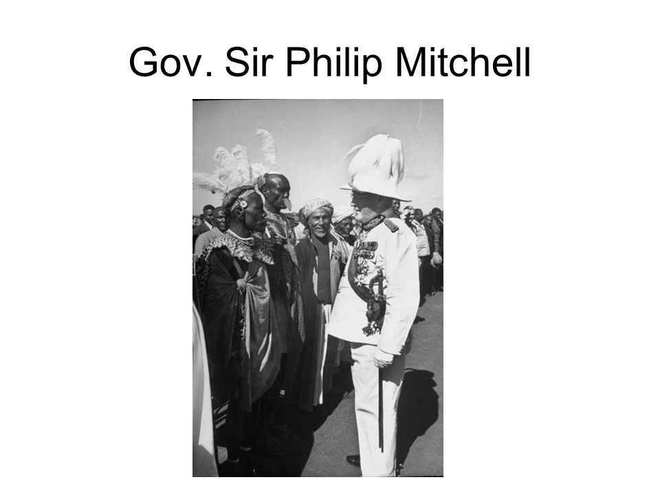 Gov. Sir Philip Mitchell