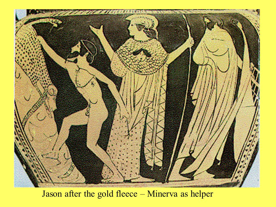 Jason after the gold fleece – Minerva as helper