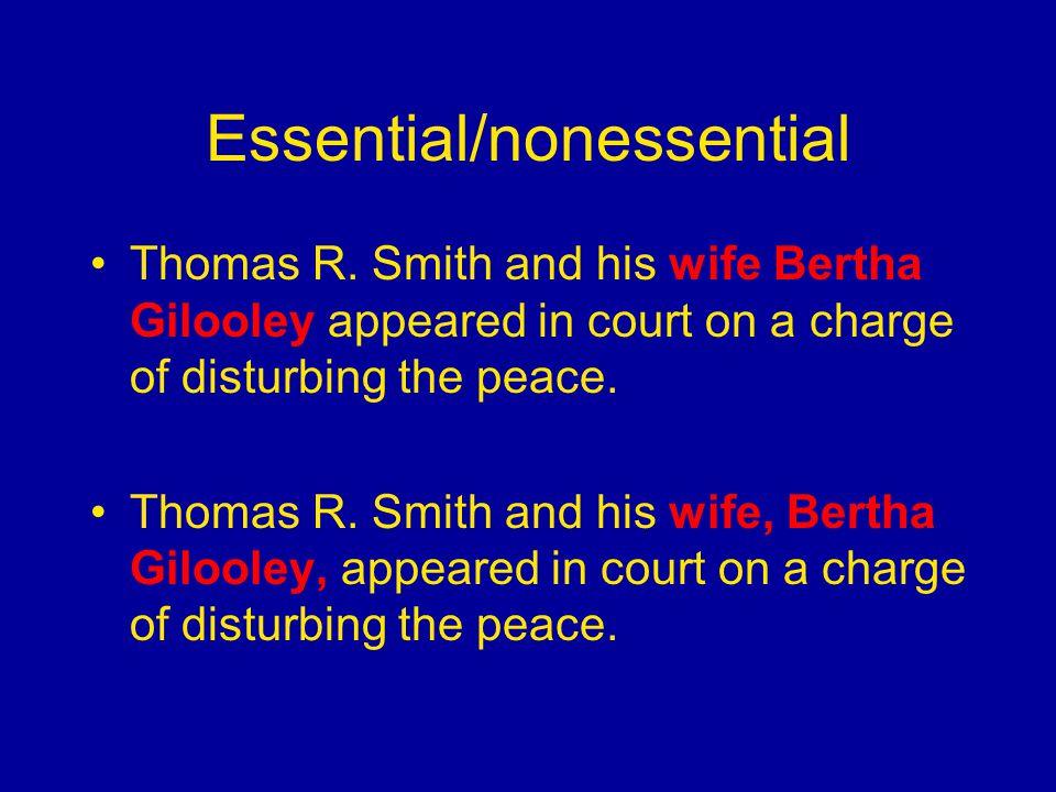 Essential/nonessential Thomas R.