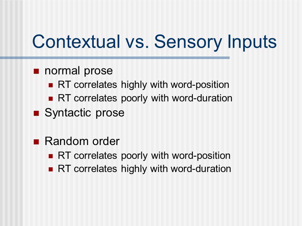 Contextual vs.