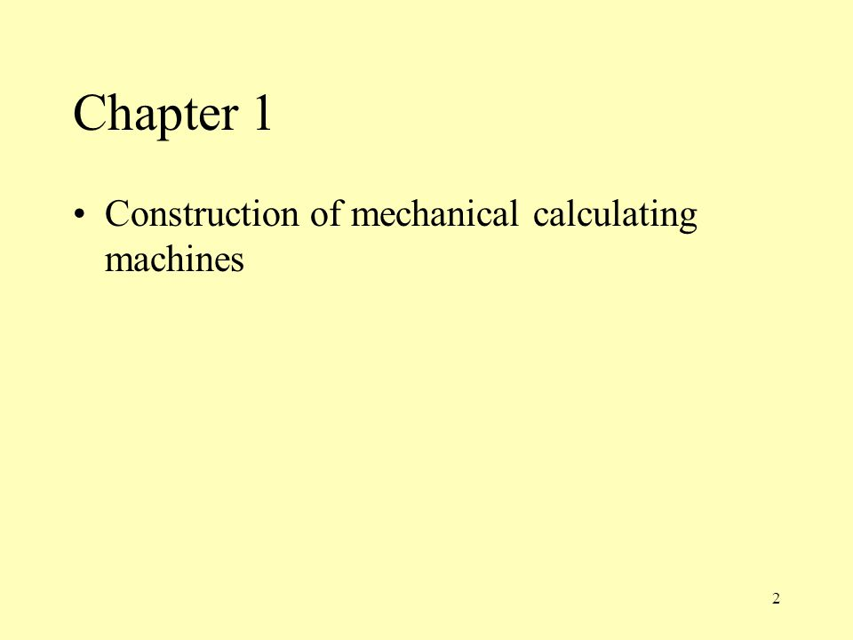 3 Structure of a mechanical calculating machine counting mechanism two counting wheels