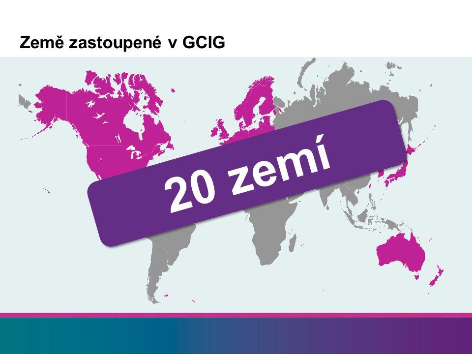 Země zastoupené v GCIG 20 zemí